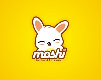 мультипликационный заец в дизайне лого