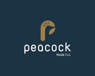 павлин в дизайне логотипа