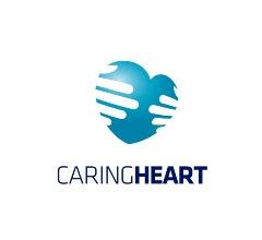 голубое сердце с отпечатками рук