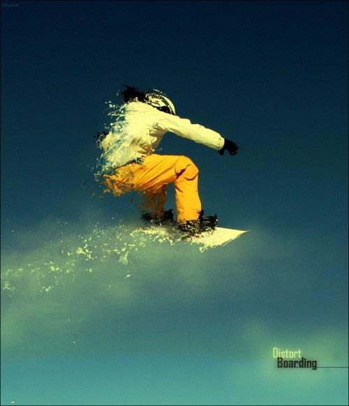 разрушеный скейтбордист