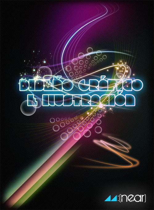 типографический постер с элементми сетовых линий