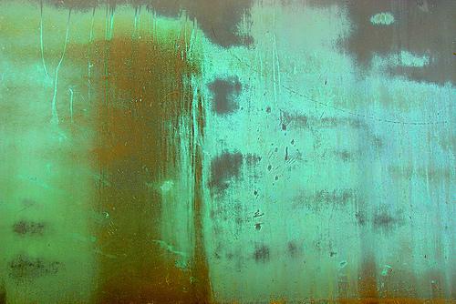 зеленая потертая краска