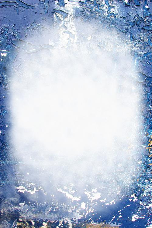 белое пятно на потрескавшемся голубом фоне