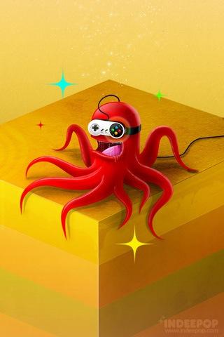 иллюстрация компьютерного осминога