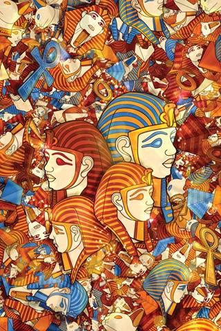 иллюстрации в египетском стиле