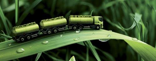 грузовик на листе