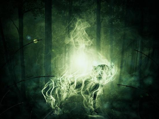 пылающий волк