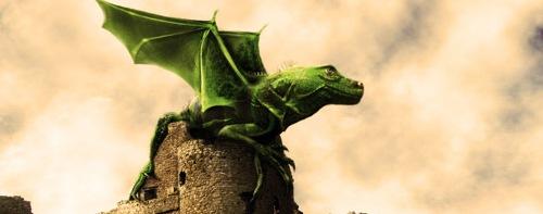 дракон на замке