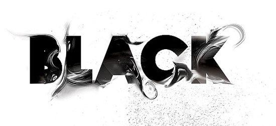 черно-белая типографика