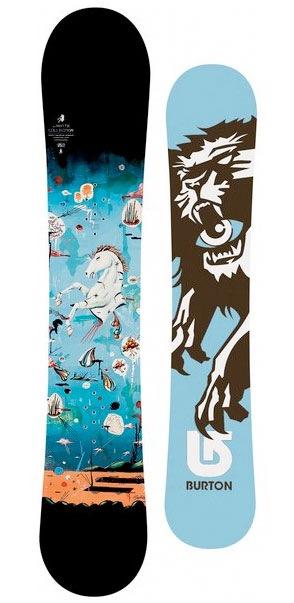 сноуборды с элементами иллюстрации