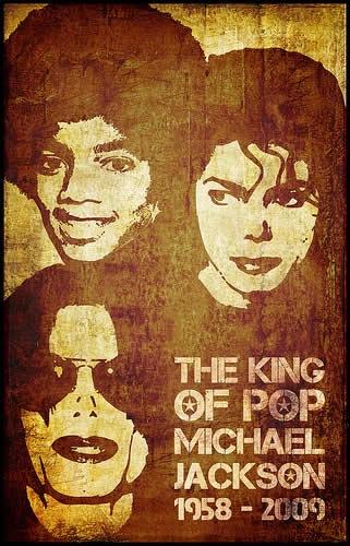 постер с изображением Майкла Джексона