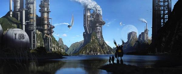 иллюстрация фантастического мира
