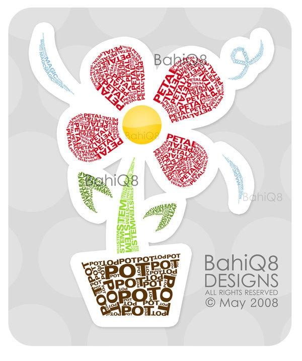 Типографический цветок