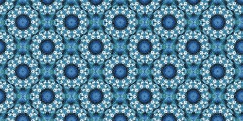 синие цветочные узоры