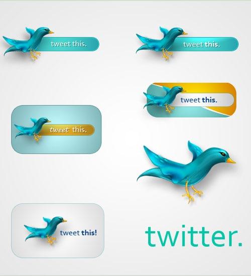 Twitter иконки PSD