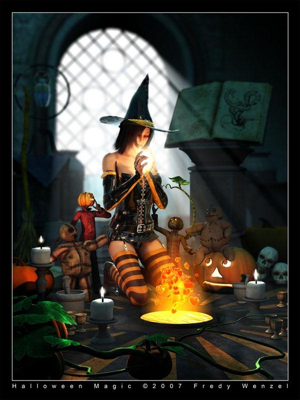 магия хэллоуина