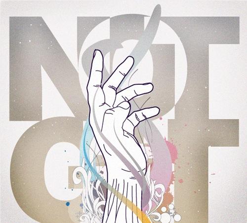 брызги краски на типографическом постере