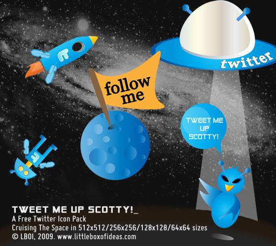 Космические Twitter иконки