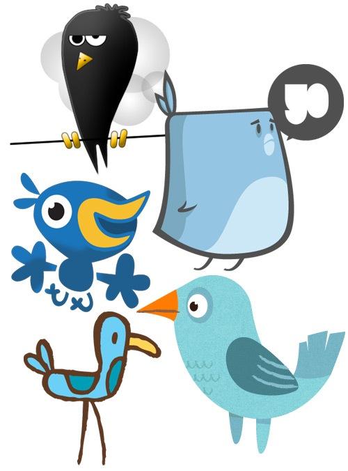 Забавные иконки птичек
