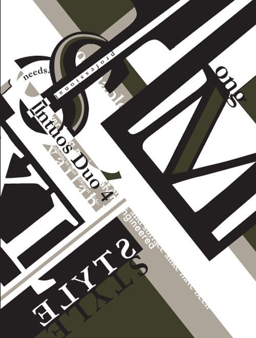 постер с типографическими шрифтами различных размеров