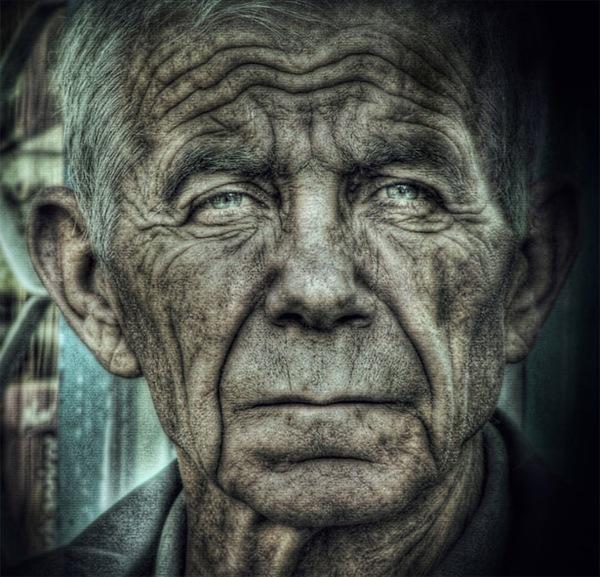 хдр портрет старика