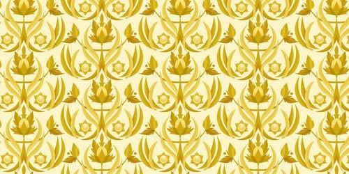 старые золотые цветы
