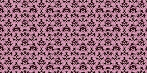 черные узоры на розовом