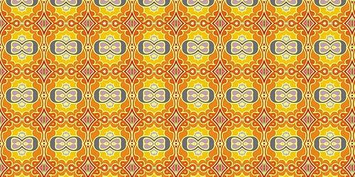 желто-оранжевые паттерны в стиле ретро