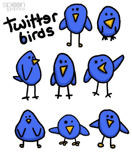 8 простых и симпатичных векторных Twitter птичек