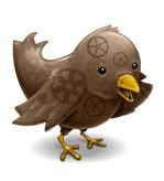 Птица Twitter в узорах
