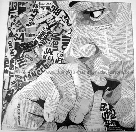 Стресс - текстовый коллаж