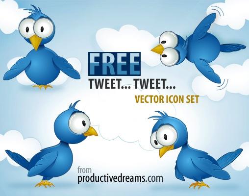Набор векторных Twitter иконок