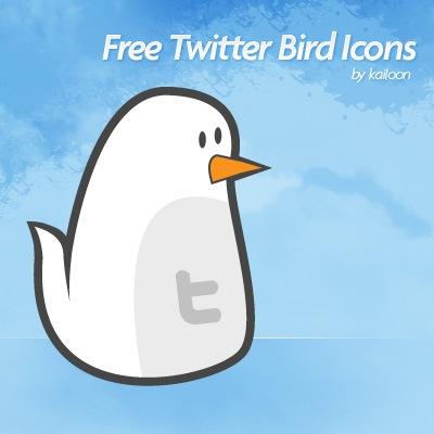 Белая птичка Twitter