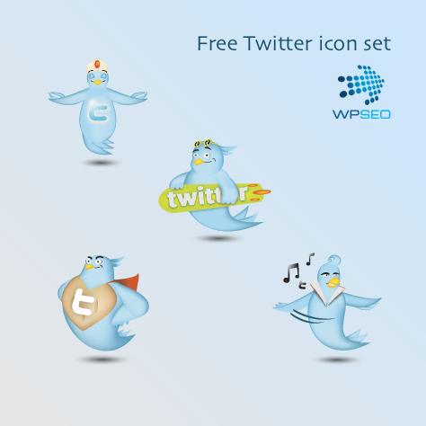 Иллюстрированные Twitter иконки