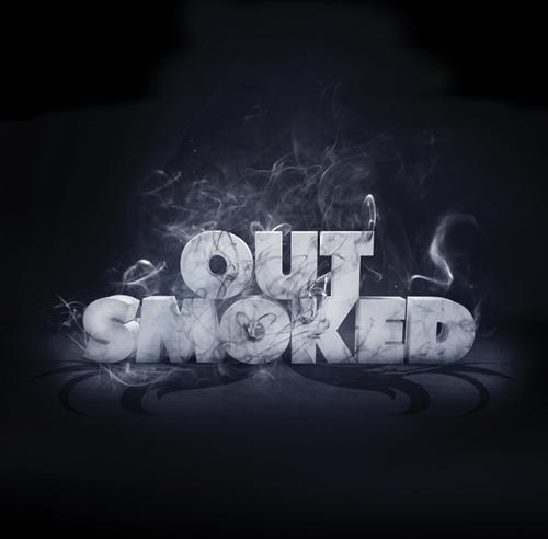 шрифты в дыму