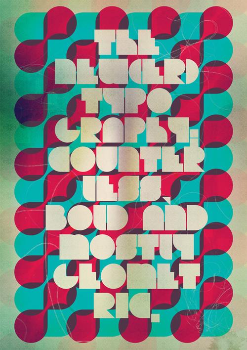 ретро типографика