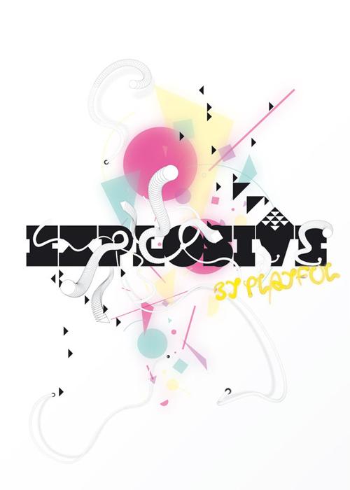 стильный типографический постер