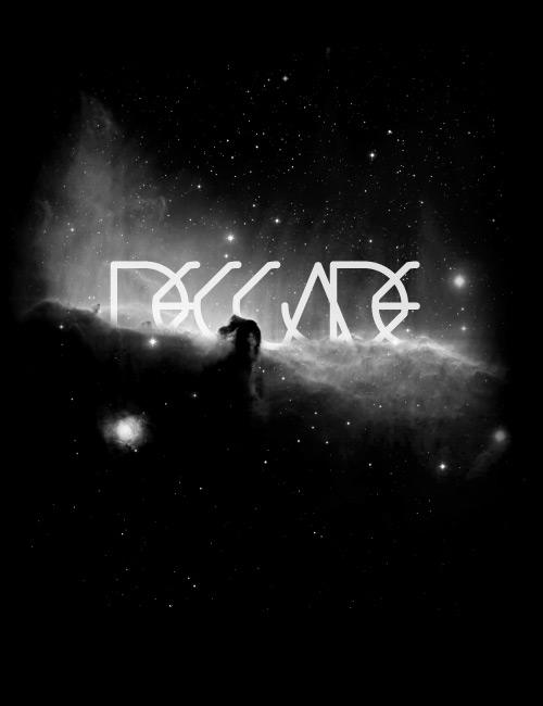 черно-белый типографический постер