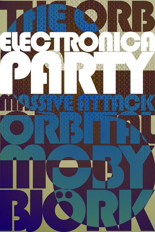 постер с элементами ретро узоров