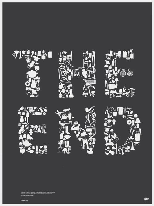 типографика из предметов