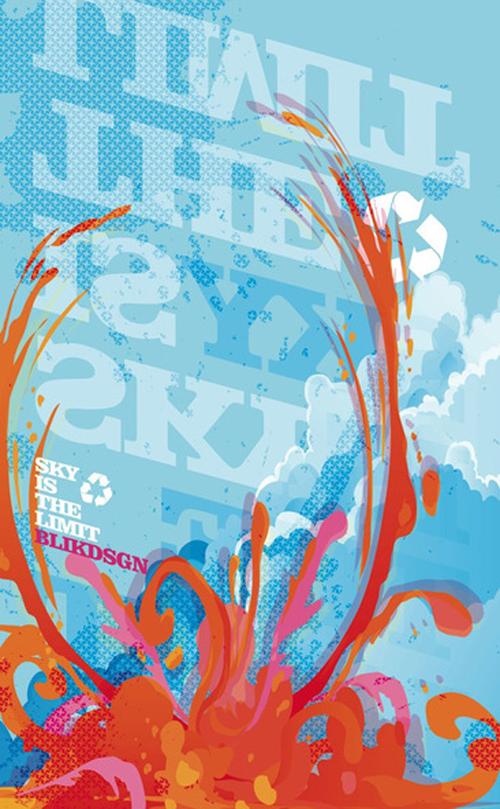 яркий типографический постер