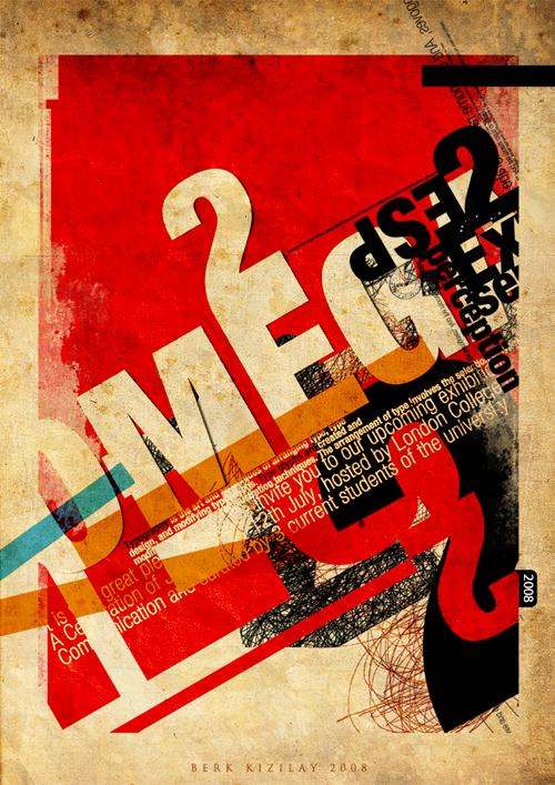 дизайн постера в стиле гранж