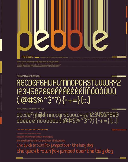 креативные типографические ретро шрифты