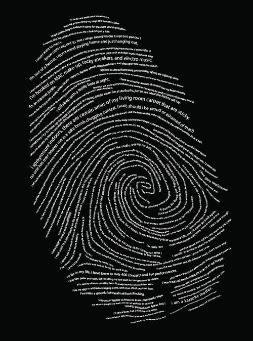 типографический отпечаток пальца