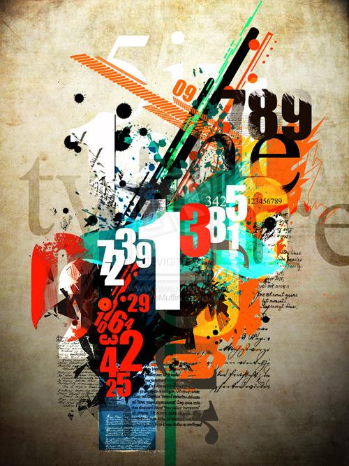 креативный постер в стиле гранж