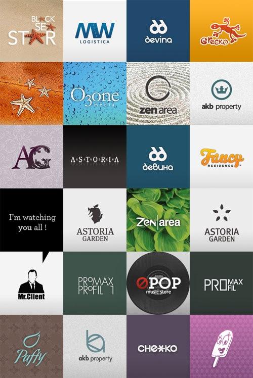 яркие глянцевые логотипы