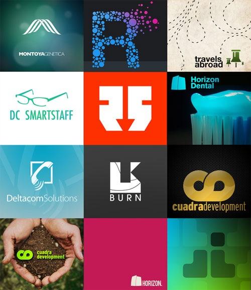 яркие логотипы с иллюстрацией