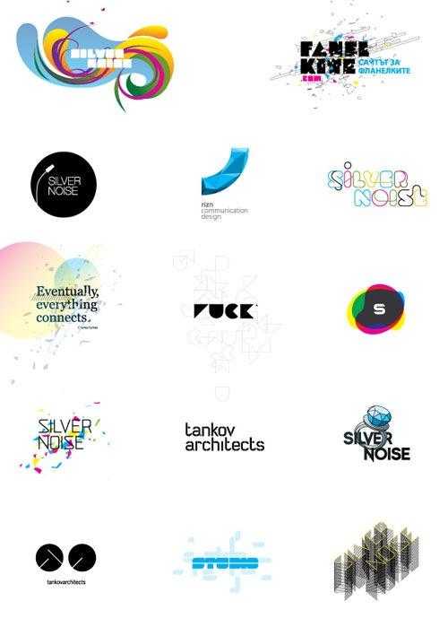 яркие стильные лого