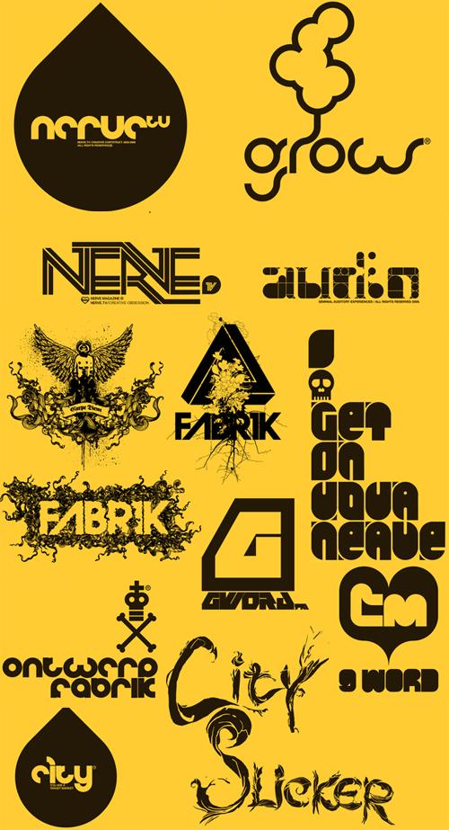 логотипы в стиле гранж