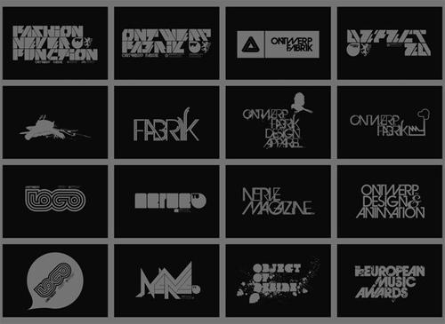 креативные шрифты в лого
